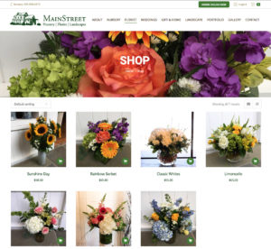 Main Street Nursery Website Florist Online Ordering Page